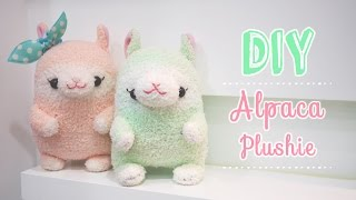 getlinkyoutube.com-Kawaii Alpaca Sock Plushie Tutorial - DIY