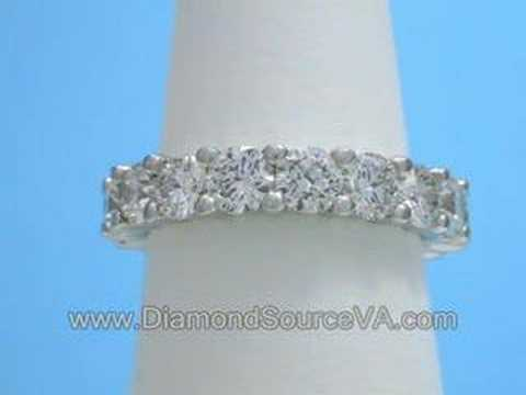 Diamond And Platinum Wedding Band 215total Carat Weight