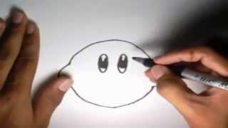 getlinkyoutube.com-Como dibujar a Kirby l How to draw Kirby