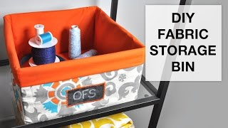 getlinkyoutube.com-DIY Fabric Storage Bin Tutorial