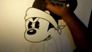 getlinkyoutube.com-Drawing Gangsta Mickey Mouse (Request) from Blanca