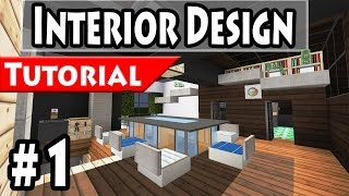 getlinkyoutube.com-Minecraft: Modern House Interior Design Tutorial Part 1 - 1.8 [ How to make ]