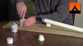 getlinkyoutube.com-How to make a hiking stick from a PVC pipe