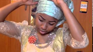 getlinkyoutube.com-Gele tutorial /Nigeria Wedding  gele/ how to tie g