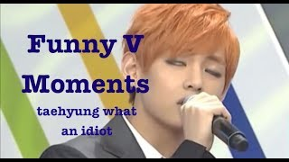 getlinkyoutube.com-Funny Moments | BTS V (Bangtan Bomb, Weekly Idol, Interviews, Rookie King)