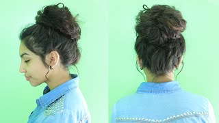 getlinkyoutube.com-Easy Messy Bun Tutorial
