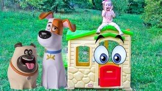 getlinkyoutube.com-Тайная Жизнь Домашних Животных - Домик для Макса. Мультфильмы для детей Новые Игрушки из мультика