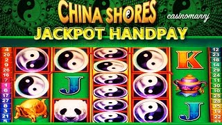 getlinkyoutube.com-JACKPOT HANDPAY!! China Shores Slot - MAX BET! - HUGE Slot Machine Win - Slot Machine Bonus
