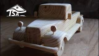 How to make a wooden model car
