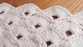 getlinkyoutube.com-Bufanda de Abanicos a Crochet