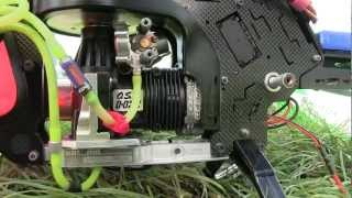 getlinkyoutube.com-Kasama Shrimok 90 RC Helicopter Up Close OS 91 HZ R 3D Speed Engine