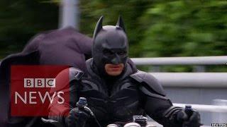 Meet Japan's Batman - Chibatman a real life Dark Knight- BBC News width=
