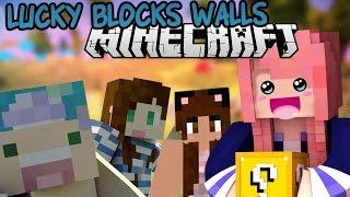 getlinkyoutube.com-Lucky Blocks Walls War | Stacy, Yammy & Joey