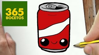 getlinkyoutube.com-COMO DIBUJAR LATA DE COLA KAWAII PASO A PASO - Dibujos kawaii faciles - How to draw a COLA