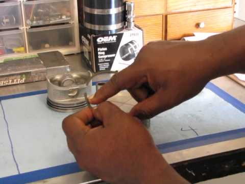 How to install and clock piston rings