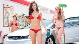 Baywash Car Wash: Bikini-clad Car Cleaning Services