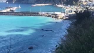 Capri: Lo strano colore del mare nel giorno dopo la lieve mareggiata di inizio Febbraio