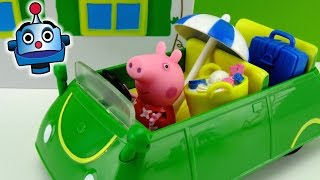 getlinkyoutube.com-Peppa Pig Coche de Vacaciones Holiday Sunshine Car - Juguetes de Peppa Pig