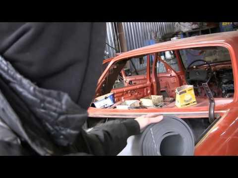 Mercedes restoration w123 видео 79 купил заднее стекло,колпаки и шумовку, сборка после покраски
