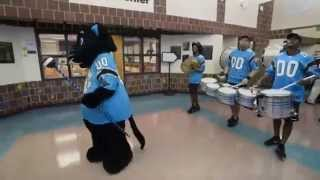 getlinkyoutube.com-CMS' kickoff of Achieve 225 featuring the Carolina Panthers' Sir Purr and PurrCussion