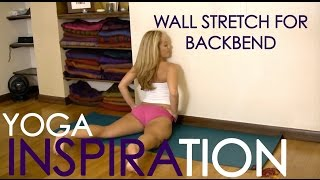 getlinkyoutube.com-Yoga Wall Stretch for Backbending with Kino