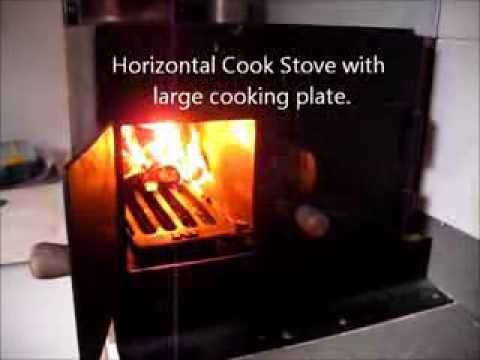 Horizontal Cook Stove with large cooking plate