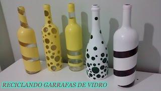 getlinkyoutube.com-Faça você mesma - Reciclando garrafas de vidro para decorar a casa!