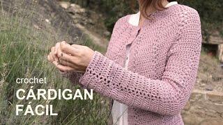 getlinkyoutube.com-Tutorial Cárdigan Fácil Crochet o Ganchillo en Español