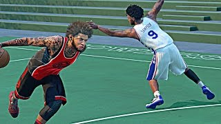 getlinkyoutube.com-NBA 2k16 My Park - I Broke A Legend 1 Ankles !