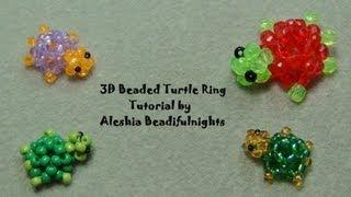 getlinkyoutube.com-3D Beaded Turtle Ring Tutorial