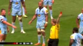 getlinkyoutube.com-Dylan Hartley Red card for swearing at Wayne Barnes (with close-up replay)
