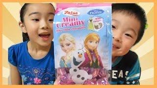 getlinkyoutube.com-イタリアのチョコエッグ?アナと雪の女王チョコレートバッグ 狙うはエルサ&オラフ/Italian sweets. Frozen