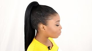 VERSATILE High Ponytail Sew In & How To Get BIG CURLS Tutorial – (Part 5 of 7)