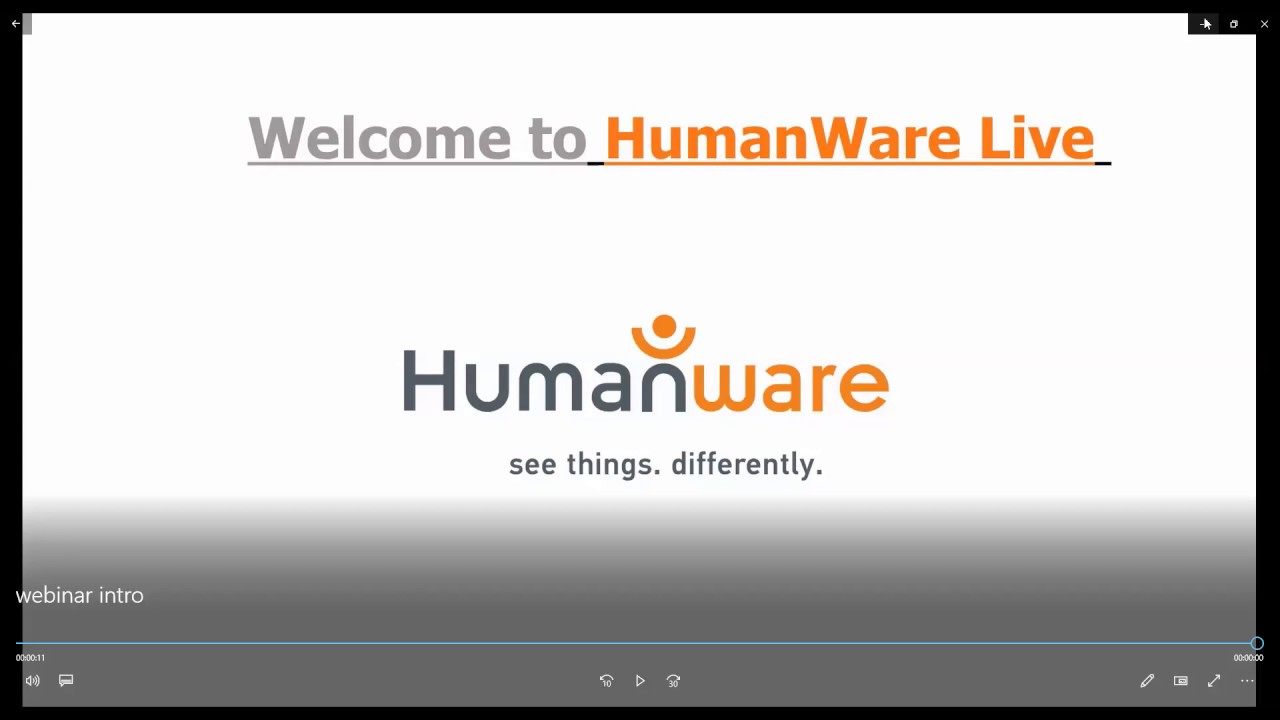 HumanWare Live Webinar March 24th