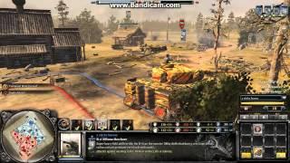 getlinkyoutube.com-203mm howitzer vs Tiger Ace [CoH2 Replay]