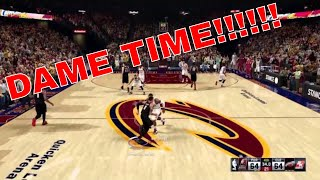 NBA 2K16 Game Winning shot!!!!! Damian lillard