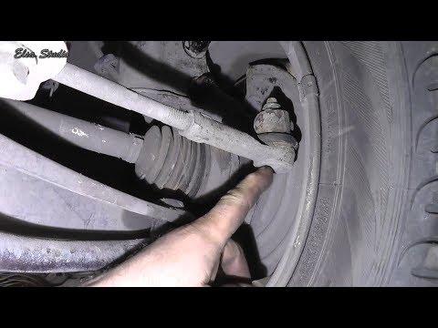 Диагностика состояния рулевых тяг, наконечника и шаровой опоры Renault Kangoo