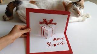 getlinkyoutube.com-How To Make A Christmas Gift Pop Up Card - A Handmade Holiday-Christmas gifts made EASY!