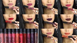 getlinkyoutube.com-Ofra Cosmetics LONG LASTING LIQUID LIPSTICK  Lip Swatches