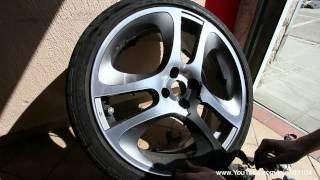 getlinkyoutube.com-Alfa Romeo MiTo Peeling PlastiDip off wheels