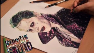 getlinkyoutube.com-Drawing The Joker (Jared Leto) from Suicide Squad