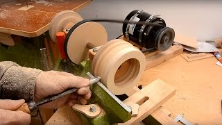 getlinkyoutube.com-Wooden ball bearing on the lathe