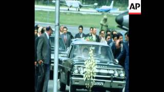 SYND 18 11 74 BODY OF EVA PERON RETURNS TO BUENOS AIRES