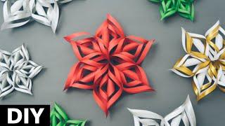 getlinkyoutube.com-Como fazer flocos de Neve 3d com Papel - Decoração Festa Frozen - Paper Snowflakes EASY DIY