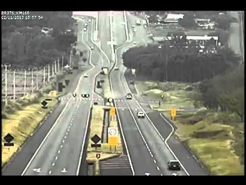 Câmeras registram acidente na Rodovia Maringá à Mandaguaçu