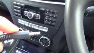 getlinkyoutube.com-How To connect an Apple iPod, iPhone to your Aux jack on a MERCEDES BENZ C CLASS