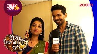 getlinkyoutube.com-Diya Aur Baati Hum   Off Screen Masti With Om And Emily   #TellyTopUp