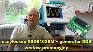 Oscyloskop DSO5102BM Hantek + generator DDS