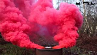 getlinkyoutube.com-Enola Gaye - BURST Wirepull Smoke Grenade - RED