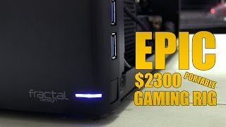 getlinkyoutube.com-Epic $2300 Portable Gaming PC - Time Lapse Build